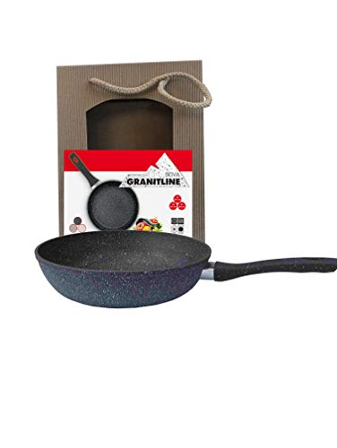 Granitline Pfanne 24cm,Granitpfanne,Bratpfanne,Kratzfest,antihaft,Induktion Gas Elektro