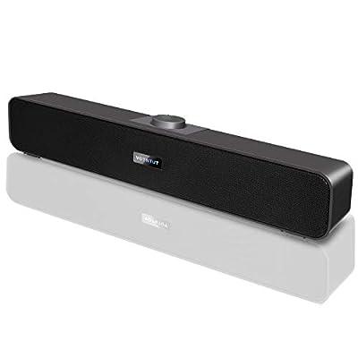 Computer Speakers,Wired USB Desktop Speaker,Stereo USB Powered Desktop Sound Bar Laptop Speaker for PC Tablets Desktop Cellphone Laptop MP3(2020 Version)