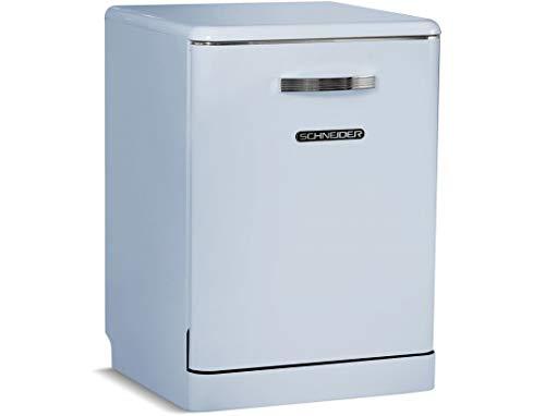 Lave vaisselle Schneider SDW1444VBL - Lave vaisselle 60 cm - Classe A++ / 44 decibels - 14 couverts - Bleu bandeau : Bleu - Tiroir a couvert - Pose libre