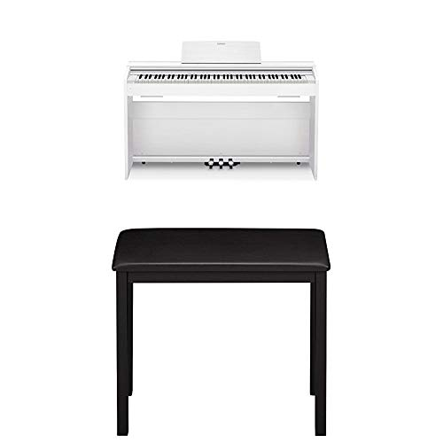 Read About Casio PX870 BK Privia Digital Home Piano (White) and CB7 BK Piano Bench with Padded Seat ...
