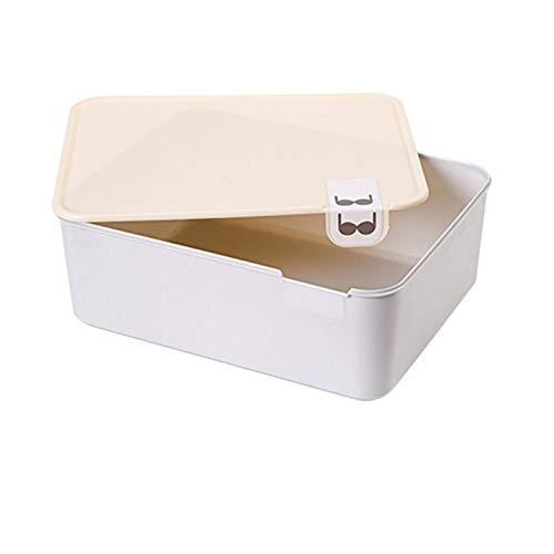 Kaijia 1/10/15 rejilla reutilizable caja de almacenamiento de ropa interior de plástico con marca armario organizador cajón para calcetines boxeadores sujetador organizador