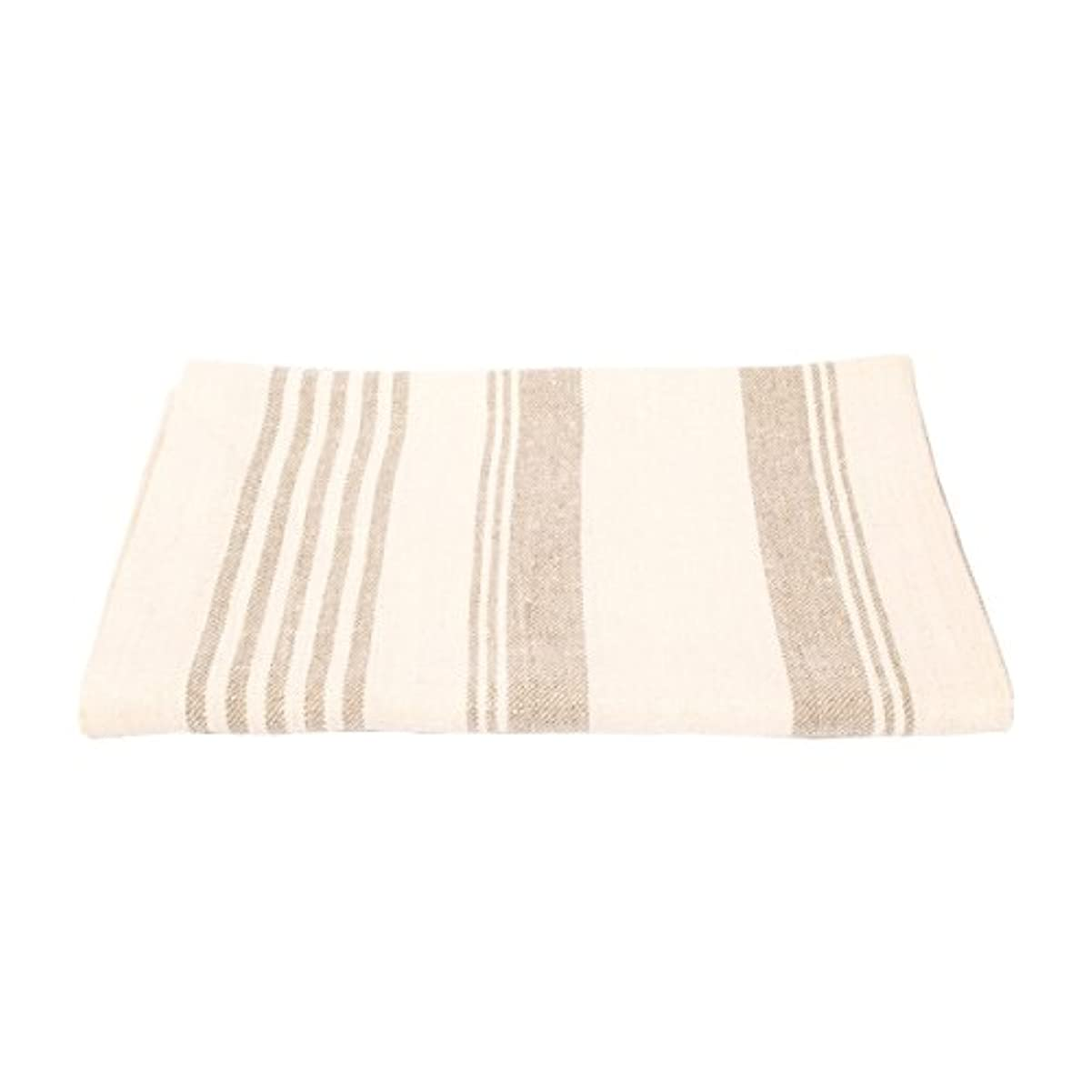 それ神の一方、(105 x 142 cm) - Bath Towel Cream Huckaback Linen Linum