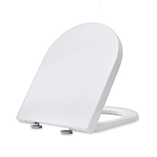 Homelody WC-Sitze mit Absenkautomatik,U-Form Toilettendeckel WC Deckel Duroplast Klodeckel, Toilettensitz mit langsamer Absenkung und Soft-Close Funktion Klobrille