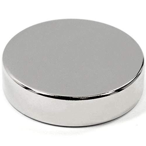 """Super Powerful Neodymium Disc Magnet Dia 1.5"""" x 3/8' NdFeB Rare Earth for Home, School & Business. DIY Projects, Hobby and Science Education, Magnetic Therapy and Bottle Opener Magnet - One Piece"""