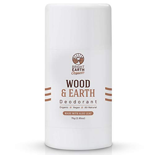 All Natural Organic Deodorant Wood & Earth - with Magnesium and Aloe - Aluminum Free, Baking Soda Free, Alcohol Free, Vegan, Non Toxic, for Women, Men & Kids - 2.65 oz