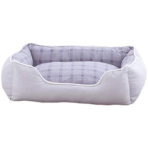WXYPP Cojín de algodón de algodón con Cama de algodón cómodo para Perros Cuadrados y sofá de Mascota Duradera Inferior no Deslizante Adecuado para Perros y Gatos Aliviar La Ansiedad