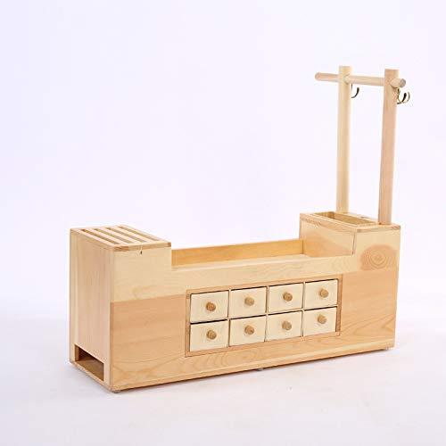 einfache Montage Schreibtisch-Schreibwaren Woodenholder-B11 B11-black Home Office Supplies Storage Rack mit Schublade Stifthalter Box DIY multifunktional Holz Marbrasse Schreibtisch-Organizer