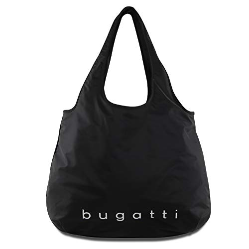 Bugatti Bona Shopper L, Handtasche Damen Groß, Damenhandtasche Schultertasche – Schwarz