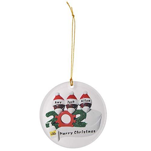 Fanteecy 3PCS Christmas Ornaments Quarantine, 2020 Christmas Tree Pendant Hanging Home Ornament Christmas Decoration