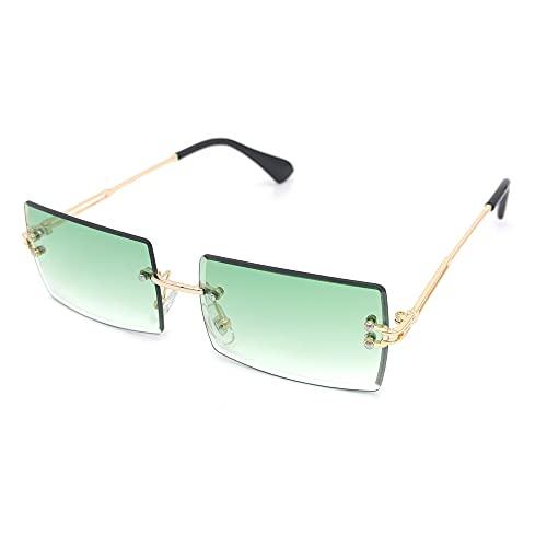 Gafas De Sol Gafas Pequeñas Gafas De Sol Cuadradas Damas Sin Montura