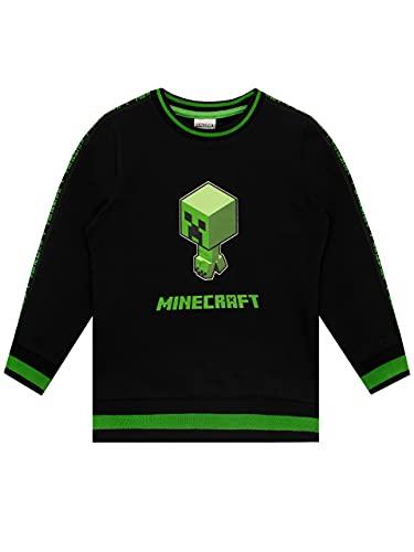 Minecraft Jungen Creeper Sweatshirt Schwarz 140