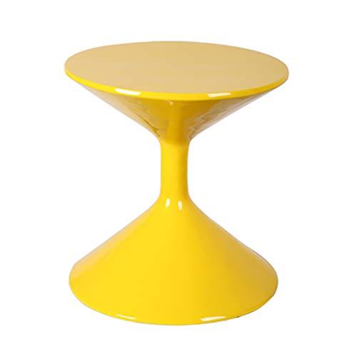YWXCJ Tables Basses Salon créatif Petite Table Basse Simple Mini Table Basse Moderne en Fer forgé Loisirs Petite Table Ronde (Couleur : Red)