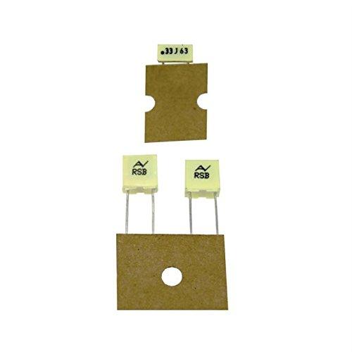 20x MKT-Condensateur rad. 0,33µF 63V DC ; 5mm ; RSBDC3330DQ00J ; 330nF