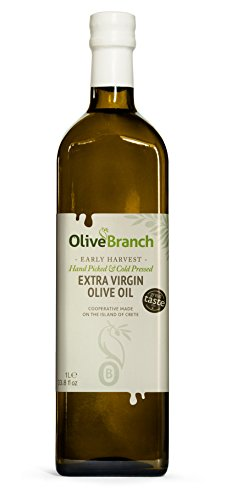 The Olive Branch Greek Extra Virgin Olive Oil from Crete, 1000 ml