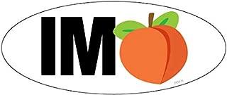 Bumper Planet - Bumper Sticker - Oval Impeach Trump, Peach Emoji - 3.5 Inch x 7.5 inch - Vinyl Decal Professionally Made in USA