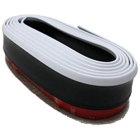 【mon luxe】 汎用 リップスポイラー フロントリップ バンパー保護 アンダー リップ モール 簡単取付 2.5m (white)