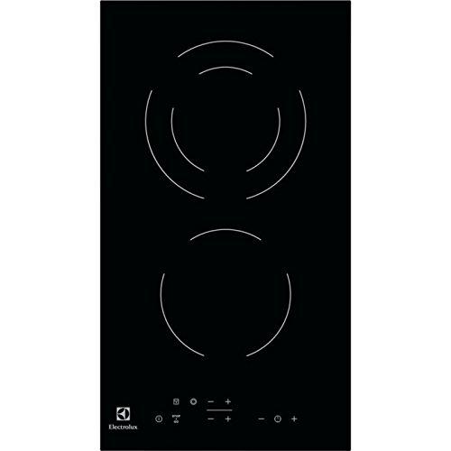Plaque Vitrocéramique 2 feux-Electrolux EHF3320NOK - Plaque de cuisson Vitrocéramique - Dimensions produit (LxP en cm) : 29 / 52