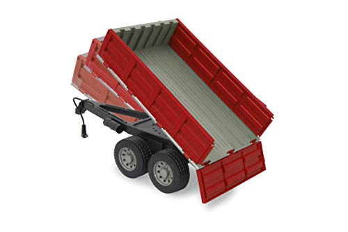 JAMARA 413108 - Kipper für RC-Traktor 1:16 - ferngesteuerte Kippmulde hoch/runter, Anhängerkupplung vorne, Klappbare Bordwände