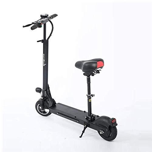 Bicicleta Eléctrica Plegable Adulto Plegable eléctrico Campo a través Vespa con Asientos 500W Motor Velocidad máxima 45 km/h, a 50 km Distancia de Funcionamiento, Pantalla LCD, Altura adjustabe Tráf