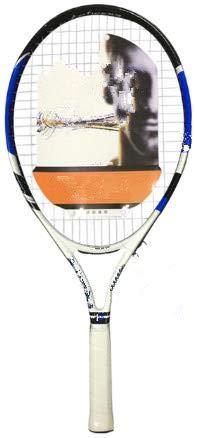 Raqueta de Tenis Ultraligera para niños, Bolsa de Cuerda, aleación de Aluminio y Carbono, Raqueta de Paleta para 23 Pulgadas, Azul