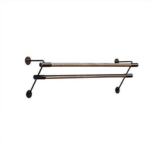 WEBO Home- Doppel-Kleiderbügel/Kleiderbügel/Display-Ständer/Kleiderständer/Eisen Kleiderbügel/Retro Nostalgie Wand Kleiderbügel/DREI Größen optional / (80/100/120 * 17cm) (größe : 100 * 17cm)