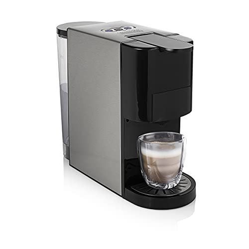Princess 249450 Cafetera multicápsula de acero 4 en 1 - 19 bares – Apta para múltiples variedades de café