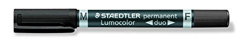 Staedtler - Pennarello a doppia punta, colore: Nero