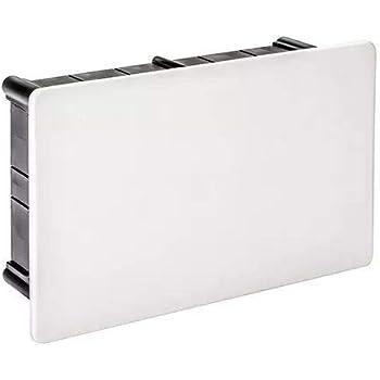 IDE D114 IP33 Caja de Derivación de Empotrar con Tapa de Garra Plástica, Negra, 108mm x 168mm x 50mm: Amazon.es: Industria, empresas y ciencia