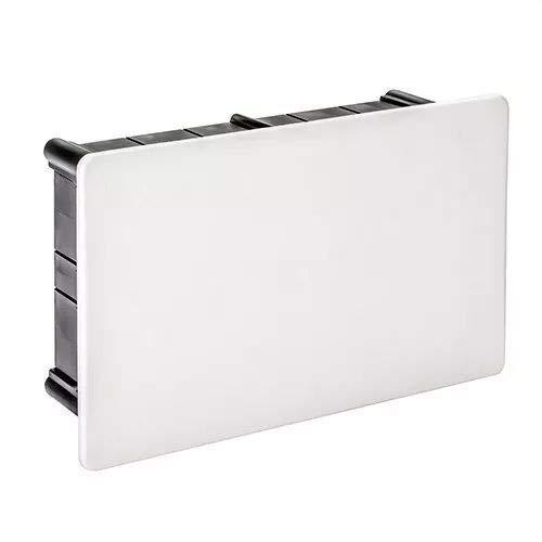 IDE D114 IP33 Caja de Derivación de Empotrar con Tapa de Garra Plástica, Negra, 108mm x 168mm x 50mm