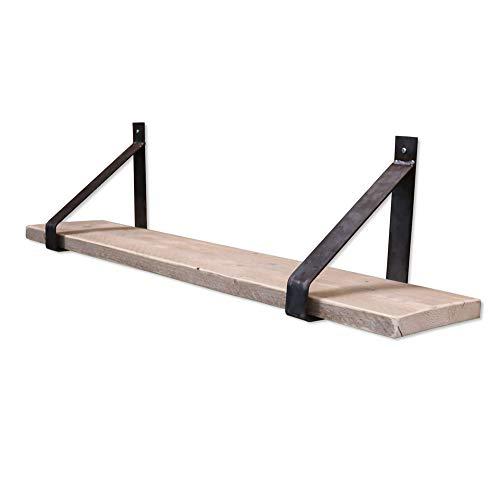 Steigerhoutpassie - Stalen plankdrager - Set - Eiken - Steigerhout - 100cm