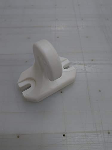 TENDAGGIMANIA Ricambio Gancio Pavimento Ringhiera per Tenda da Sole a Caduta in PVC Colori Bianco o Nero Bianco