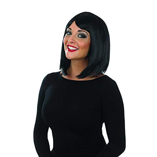 Fun Shack La Perruque Cheveux Lisses Moyens Noir pour Femmes de Une Taille Unique