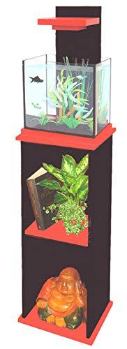 ADM Aquarium aquacubic+filt - 15l - Zwart/Rood