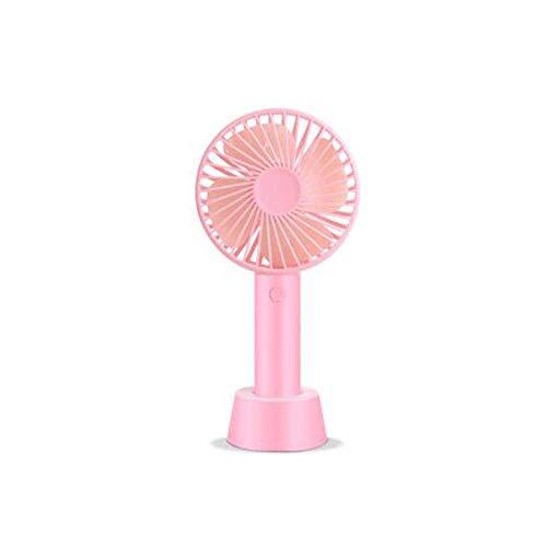 JINKEBIN Ventilador USB, mini ventilador, ventilador personal, ventilador de mano, recargable, portátil, hermoso, verde, rosa (color: rosa)
