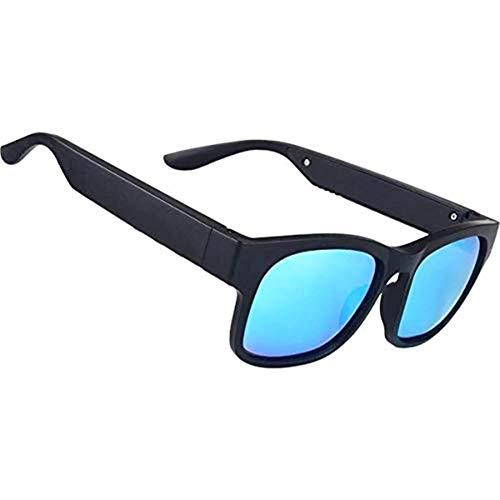 AOHOG Smart bluetooth 5.0 lentes polarizadas con gafas de sol al aire libre a prueba de agua IP7 inalámbrico Llamada gafas de sol Blue and Black