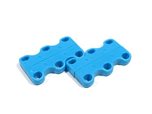 REMA Magnetischer Schnürsenkelverschluß Extra Stark aus Neodym Magneten (1 Paar, Hellblau)