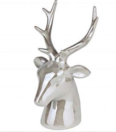 Werner Voß Tête de cerf en Forme de tête de cerf Blanc Crème 23 cm