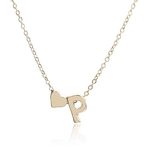 Halskette Damen Goldkette Modeschmuck Accessoires Schmuck Neckless Choker Chocker Besten Freunde Brief Herz Anhänger Halskette Frauen P.