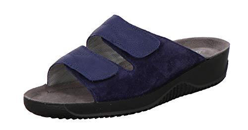 Rohde 8652 Soltau-40 Damen Sandalen Pantoletten Clogs Weite F1/2, Größe:40 EU, Farbe:Blau