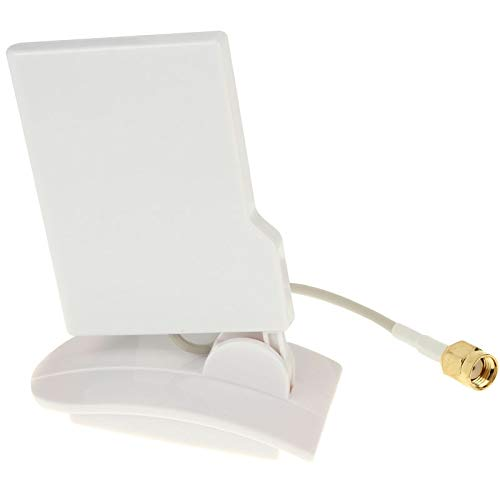 Sevenplusone Licht en mooi, gemakkelijk te dragen. 2.4 GHz 9dBi Compact Yagi RP-SMA Directionele Wifi-antenne (wit), Gemakkelijk te installeren