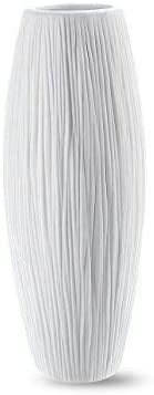 D'vine Dev 8 Inch White Waterfall Complete Free Shipping Ceramic Textured Flower Beauty products Vase