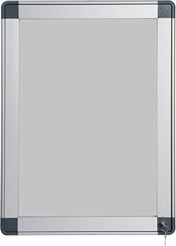 Vitrine klapstandaard van gehard glas, geanodiseerd aluminium, 9 vellen
