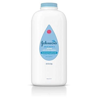 Johnson's Baby Powder, Pure Cornstarch, Aloe & Vitamin E, 22 Ounce (Pack of 3) - Packaging May Vary
