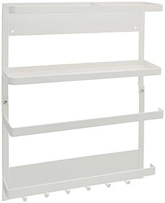 YAMAZAKI home 2560 Plate Kitchen Rack-Magnetic Storage Holder & Organizer, White from YAMAZAKI USA INC