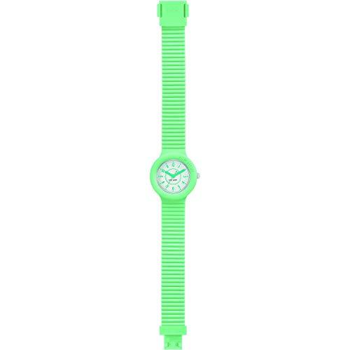 Orologio HIP HOP donna NUMBERS COLLECTION quadrante bianco e cinturino in silicone verde, movimento SOLO TEMPO - 3H QUARZO