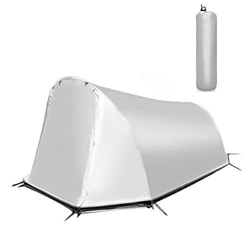 KOUPA Tienda de mochilero Ligera e Impermeable para Personas - con Malla de Mosquito Tienda de campaña de Varilla de Aluminio portátil de Doble Capa, para Viajes al Aire Libre, Senderismo