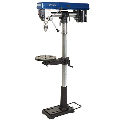 Find Bargain Rikon 30-251 3,100 RPM 34-Inch Radial Floor Drill Press with Chuck Key Holder