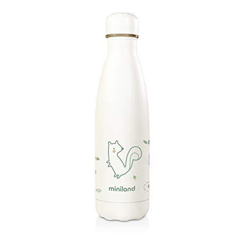 Miniland - Botella Isotérmica de acero inoxidable, botella-termo ecológica de 500ml, colección EcoFriendly, 89345, NATUR BOTTLE CHIP