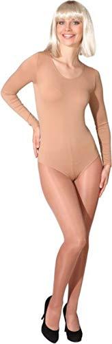 Body in verschiedenen Farben und Größen als Verkleidung / Kostümunterzieher, Farbe:hautfarben / toast;Größe:140/152