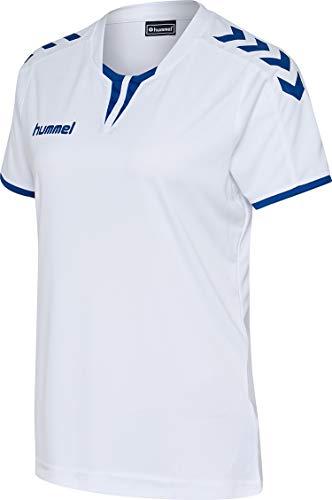 Hummel Damen Trikot Core Womens SS Jersey 003649 White/True Blue PR S